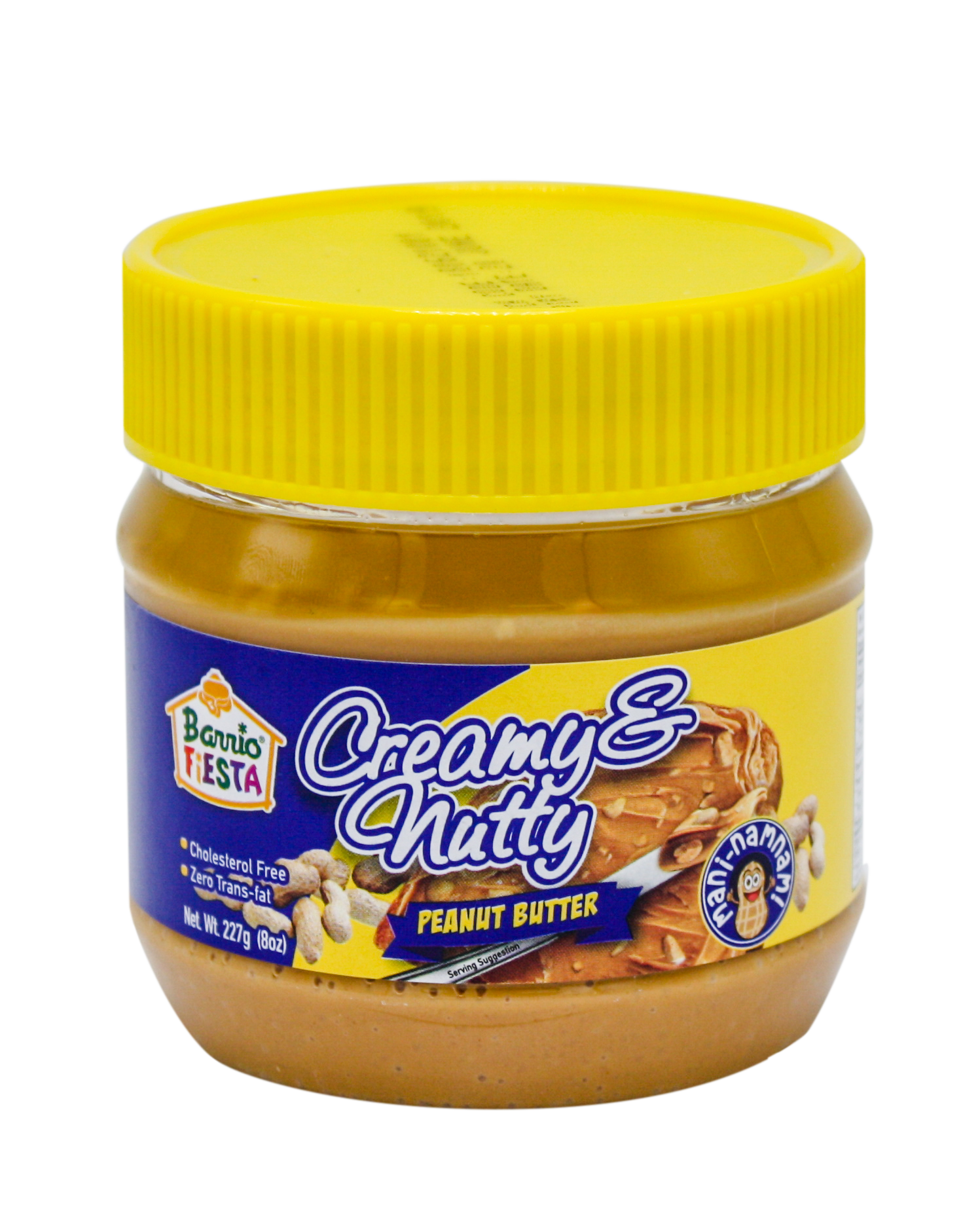 creamy and nutty peanut butter